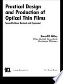 Practical Design and Production of Optical Thin Films Book