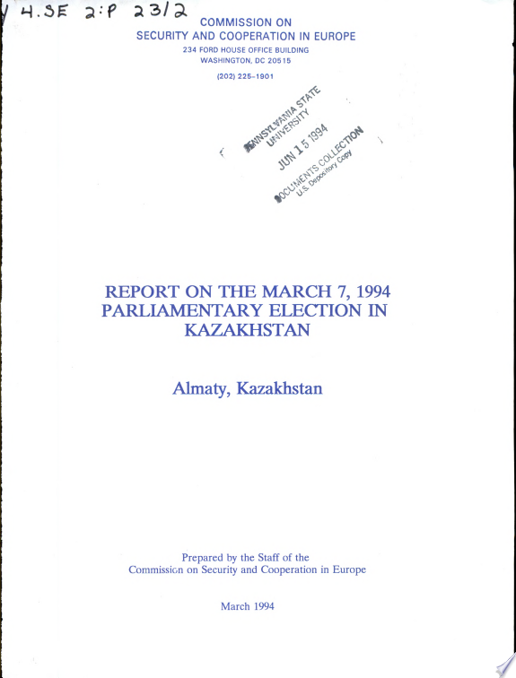 Report on the March 7, 1994, Parlia