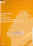 Proceedings of the Australian Physiological and Pharmacological Society