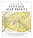 Instant Wall Art   Vintage Map Prints