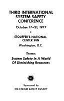 Proceedings of the International System Safety Conference
