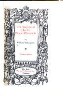 First Folio Edition  The tragedie of Hamlet  Prince of Denmark