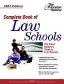 Complete Book Of Law Schools 2003 Edition