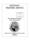 Fire Weather Program User Information