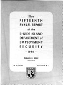 Annual Report Rhode Island Department Of Employment Security