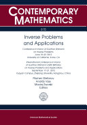 Inverse Problems and Applications