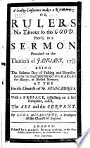 A Guilty Conscience makes a rebel  or Rulers no terror to the good  prov d in a sermon  on Rom  xiii  3      With a preface reflecting on a late pamphlet  call d The Ass and the Serpent  by T  Bradbury