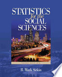 """""""Statistics for the Social Sciences"""" by R. Mark Sirkin"""