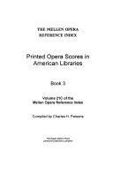 Printed Opera Scores in American Libraries