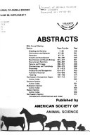 Abstracts American Society Of Animal Science