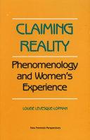Claiming Reality