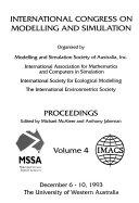 International Congress on Modelling and Simulation  December 6 10  1993  The University of Western Australia
