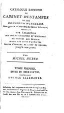 Catalogue raisonné du cabinet d'estampes par feu m. Winckler: L'école allemande
