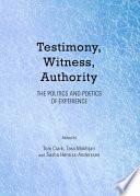 Testimony Witness Authority