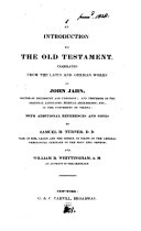 Pdf An introduction to the Old Testament, tr. with additional references and notes by S.H. Turner and W.R. Whittingham