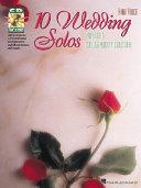 10 Wedding Solos Book