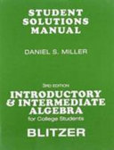 Introductory   Intermediate Algebra for College Students