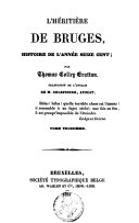 L'héritière de Bruges ebook