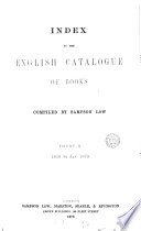 Index To The British Catalogue Of Books