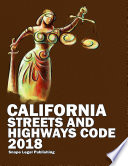 California Streets and Highways Code 2018