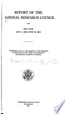 Report Of The National Research Council
