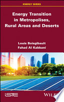 Energy Transition In Metropolises Rural Areas And Deserts Book PDF
