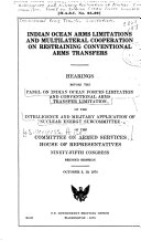 Indian Ocean Arms Limitations and Multilateral Cooperation on Restraining Conventional Arms Transfers