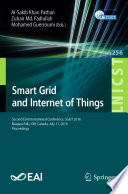 Smart Grid And Internet Of Things Book PDF