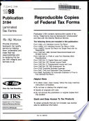 Reproducible Copies of Federal Tax Forms
