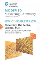 Chemistry Modified Mastering Chemistry With Pearson EText Access Code