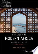 link to A history of modern Africa : 1800 to the present in the TCC library catalog