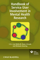 Handbook of Service User Involvement in Mental Health Research