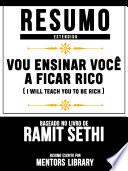 Resumo Estendido: Vou Ensinar Você A Ficar Rico (I Will Teach You To Be Rich)