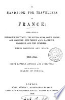 Hand book for travellers in France  by J  Murray  1st  3rd 14th  16th  18th ed Book