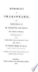 Memorials of Shakspeare