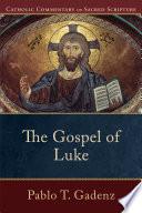 The Gospel Of Luke Catholic Commentary On Sacred Scripture