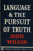 Language and the Pursuit of Truth