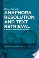 Anaphora Resolution and Text Retrieval