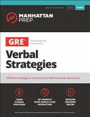 GRE Verbal Strategies Book