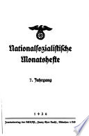 Nationalsozialistische Monatshefte