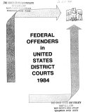 Federal Offenders in the United States District Courts