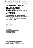 Computational Techniques and Applications  CTAC 89 Book