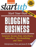 Start Your Own Blogging Business Book PDF