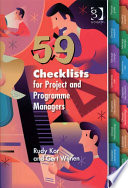 59 Checklists for Project and Programme Managers Book