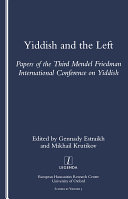 Yiddish and the Left