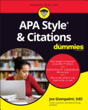 APA Style & Citations For Dummies Pdf/ePub eBook