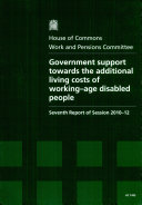 Government support towards the additional living costs of working age disabled people
