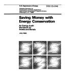 Saving Money with Energy Conservation