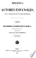 Comedias de Don Pedro Calderon de La Barca0  , Band 1