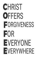 Christ Offers Forgiveness For Everyone Everywhere